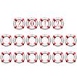 life buoy calendar vector image vector image