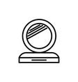 makeup mirror line icon sign vector image vector image