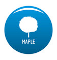 maple tree icon blue vector image vector image