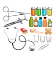 Medical equipment and container vector image vector image