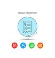 medical prescription icon health document sign vector image