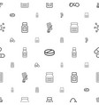 medication icons pattern seamless white background vector image vector image