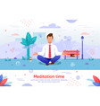 meditation for businesspeople flat banner vector image