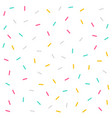 memphis style colorful confetti pattern vector image vector image