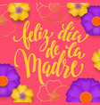 mothers day in spanish greeting card red vector image