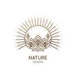 nature linear logo forest landscape vector image