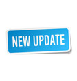 new update square sticker on white vector image vector image