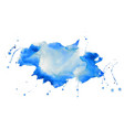 nice blue watercolor stain texture background vector image vector image