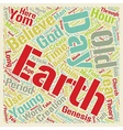 Old Earth Belief text background wordcloud concept vector image vector image