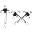 old short sword vector image vector image