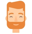 Pleased man with his eyes closed vector image vector image