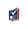 politics magazine logo design template vector image