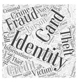 protection from identity theft Word Cloud Concept vector image vector image