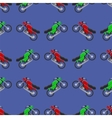 Red Green Sport Bike Seamless Pattern vector image vector image