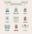 Retro Bugs vector image vector image