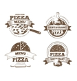 Retro pizzeria labels logos badges vector image vector image