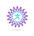 Round Yoga Emblem vector image vector image