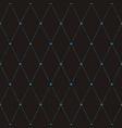 seamless flower polka pattern vector image