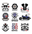 Set logo for Moto shops and service cars