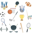 set of flat sport icons vector image vector image