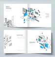 the layout of two covers templates for vector image vector image