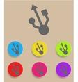 usb symbol - flat design vector image vector image