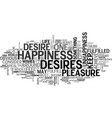 what is happiness and how to achieve it text word vector image vector image