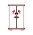 wooden closet kawaii character vector image