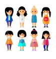 Cartoon flat people different characters vector image
