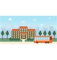 Bright flat of school building and vector image