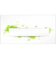 green grunge swirls banner vector image