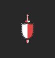 Sword and shield logo mockup design element for vector image