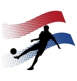 czech soccer player against national flag vector image