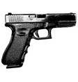 9 mm handgun on white background vector image