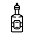 apple vinegar icon outline style vector image vector image