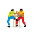 Arm Wrestling Cartoon vector image vector image