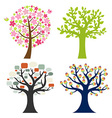 Big Set Tree vector image vector image
