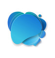 blue speech bubble isolated white background vector image