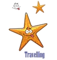 Cartoon ocean starfish character vector image vector image