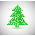 Christmas tree icon made of circles vector image vector image