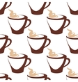 Coffee cup with cream seamless pattern vector image vector image