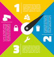 Colorful infographic design vector image vector image