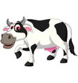 cow cartoon posing vector image vector image