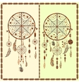 Dream Catcher ethnic Indian feathers beads vector image