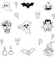 Element halloween doodle vector image vector image