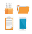 elements for research icons vector image