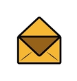 envelope letter isolated icon design vector image vector image