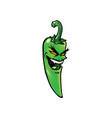 evil green hot chili pepper vector image vector image