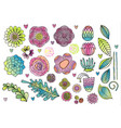 flower elements set vector image vector image