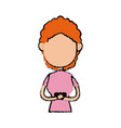 girl school student cartoon young cheerful cartoon vector image vector image